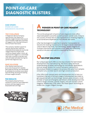 Point -of-Care Diagnostic Blisters