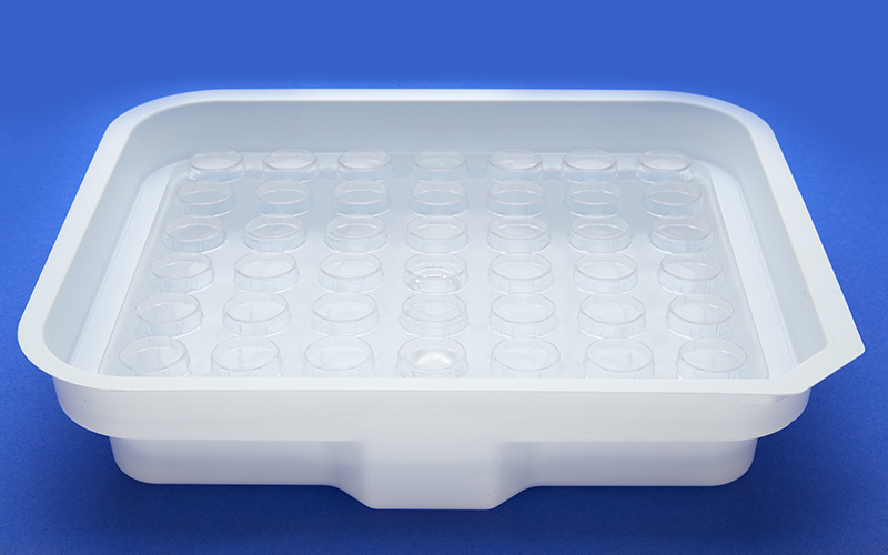 Medical component manufacturing transit tray