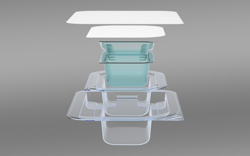 Pre-validated sterile package with urethane insert