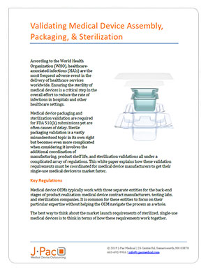 Validating Medical Device Assembly, Packaging, & Sterilization