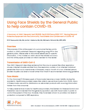 Using Face Shields by the General Public to help Contain COVID-19
